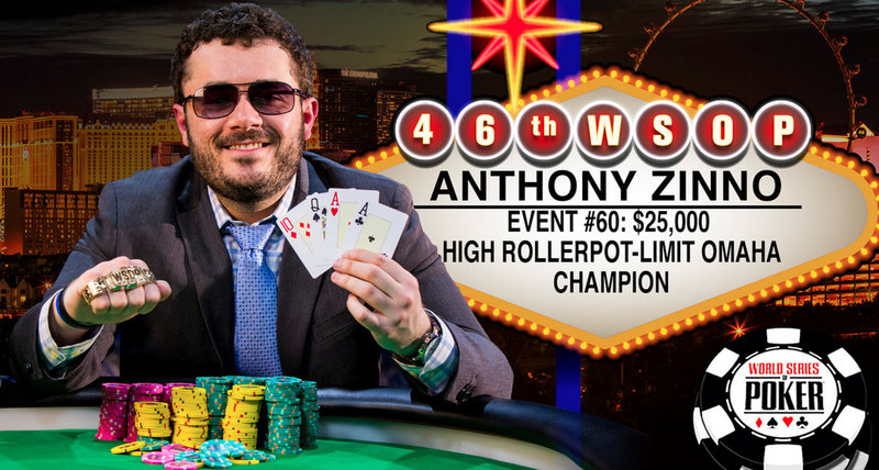 Anthony Zinno Wins 2015 World Series of Poker $25000 Pot-Limit Omaha High …