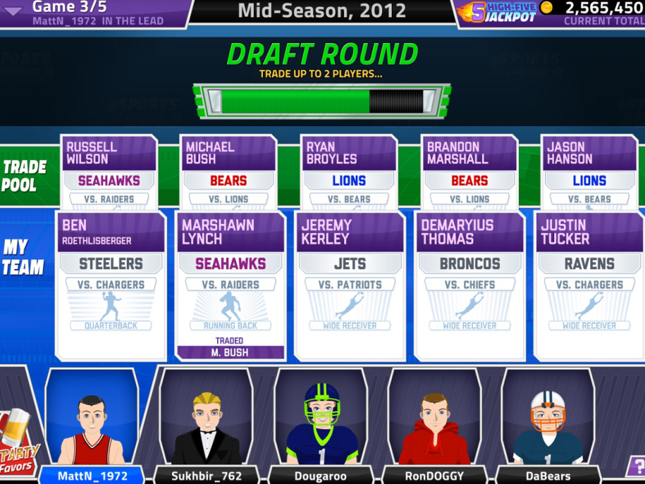 FlowPlay merges casual fantasy sports with poker in 5 Card Draft